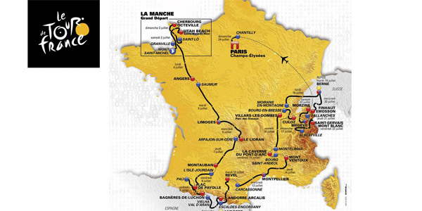 Program Tour de France 2016 - etapy
